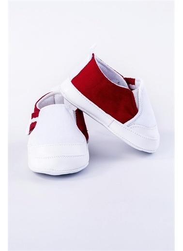 First Step Yandan Cırt Cırtlı Patik Lacivert - Kırmızı Mavi